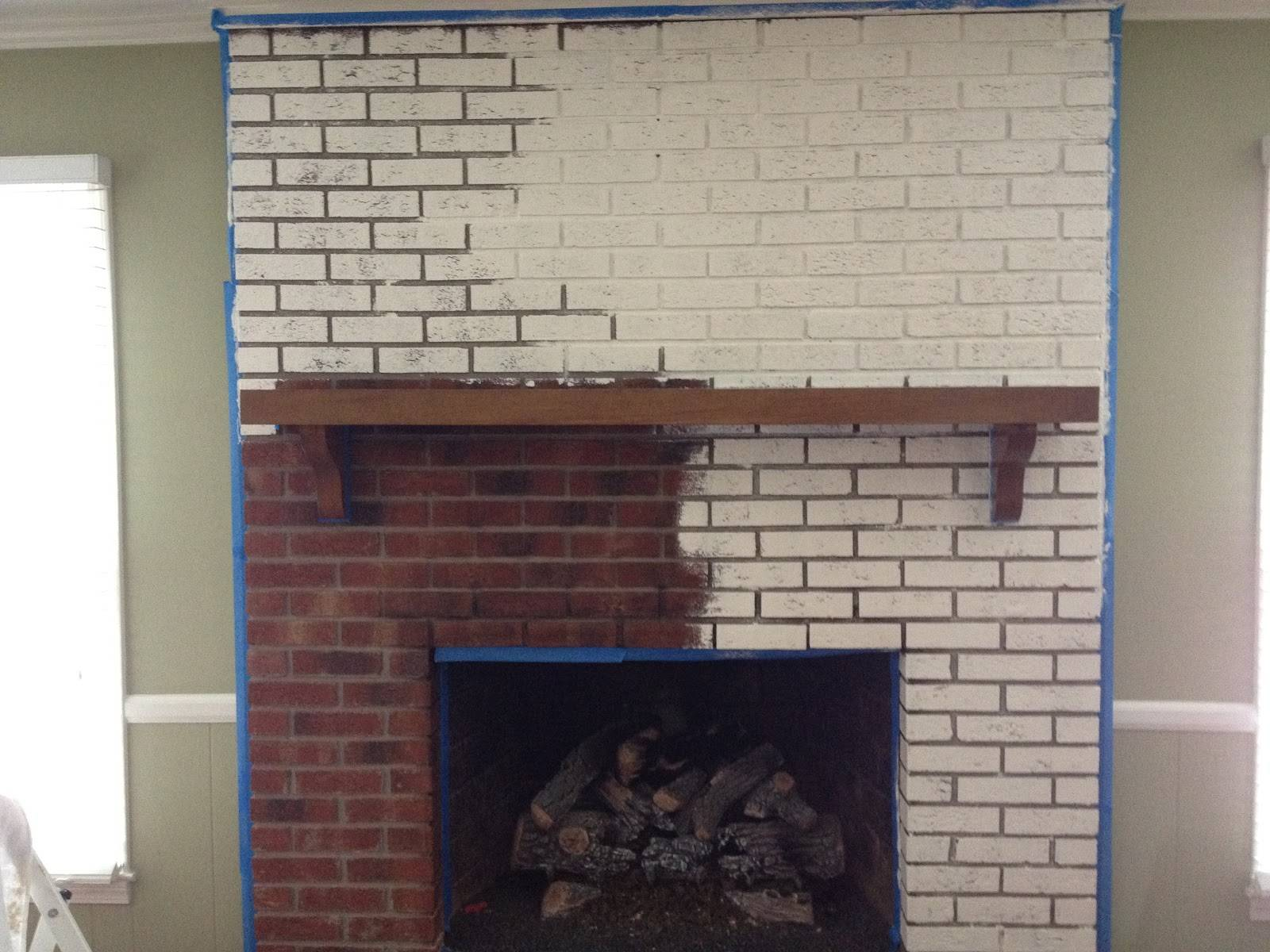 White Painted Brick Fireplace Galleryhip Hippest Galleries
