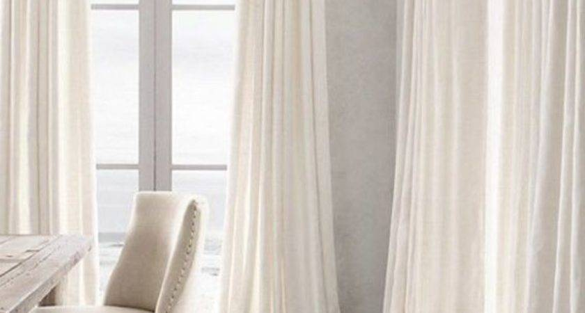 White Sheer Curtains Long Curtain Menzilperde