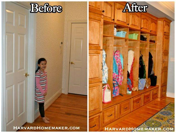 Widen Your Entryway Add Wall Cubbies Create Awesome