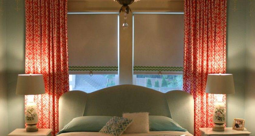 Window Behind Bed Roller Shades Curtains Gift Ideas