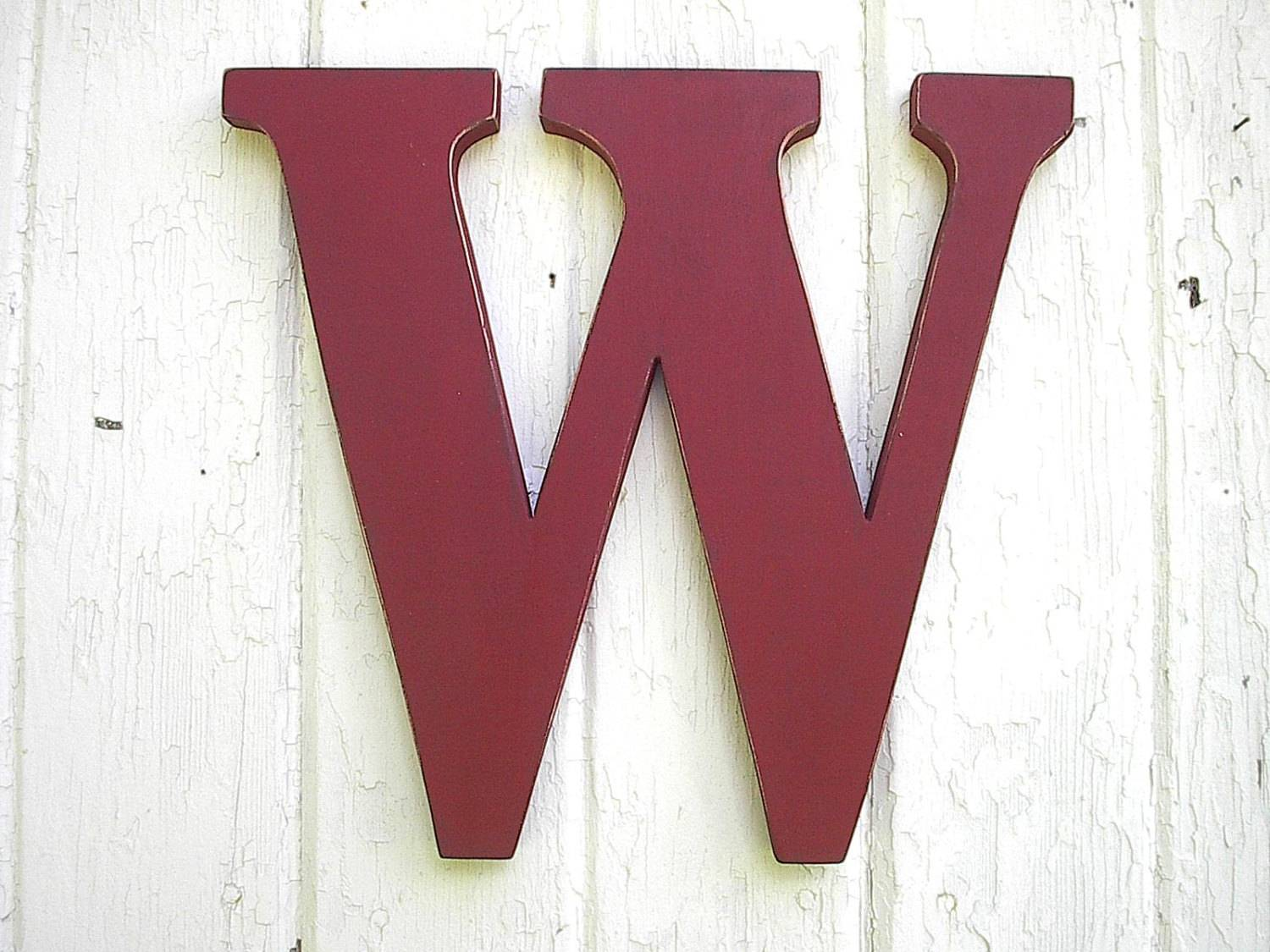 Wooden Letter Wall Hanging Monogram Kids Lettersofwood