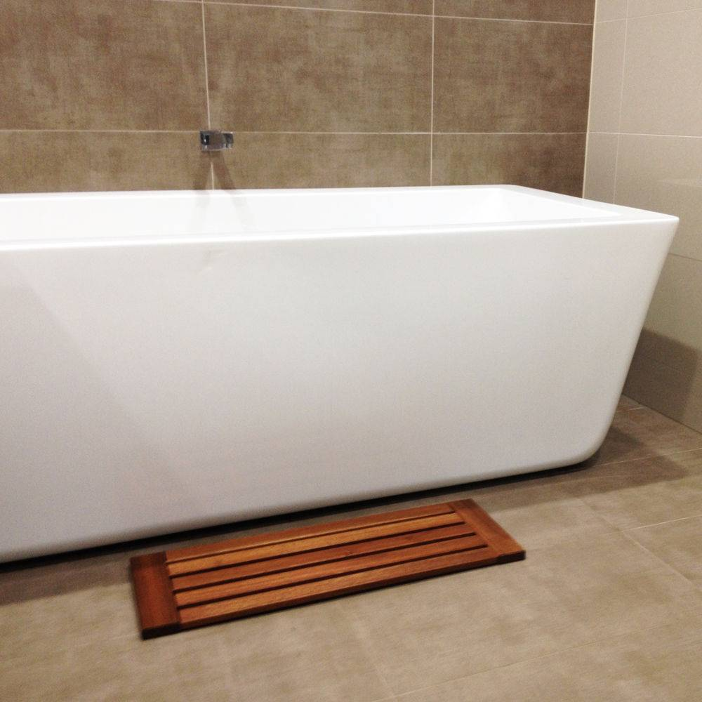 Wooden Timber Bath Shower Bathroom Mat Gym Pool Spa