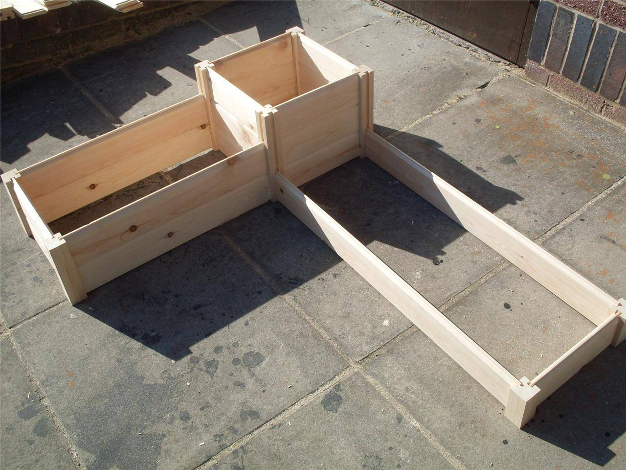 Wooden Timber Raised Planter Bed Grow Your Own Vegetables Plants